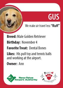Gus Trading Card