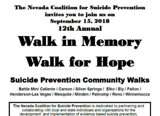 Suicide Prevention Community Walks