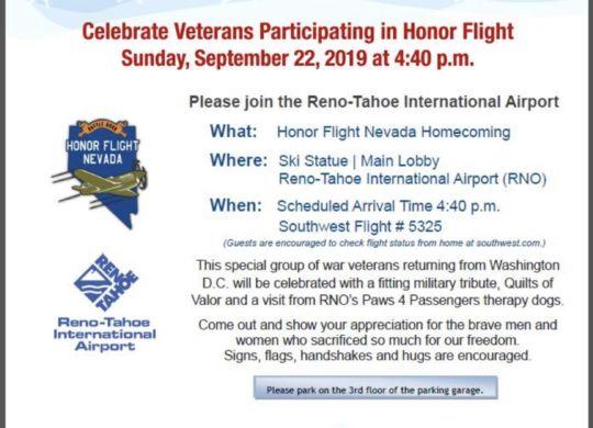 Honor Flight Nevada 9-22-19